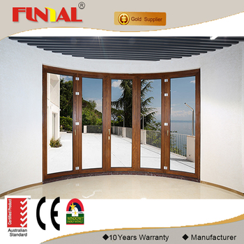 2017 Hot Sale High End Curved Aluminum Folding Door, Aluminum Bifolding Doors Design Made in China Manufacture