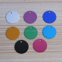 wholesale Aluminum anodized dog tags stocks round shape pet id tags