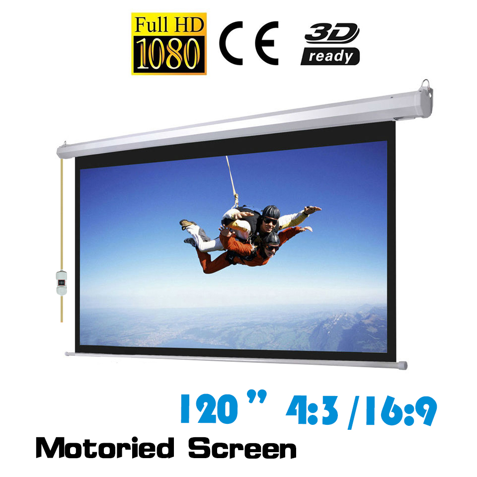 120 inch electric motorized projector screen with low price