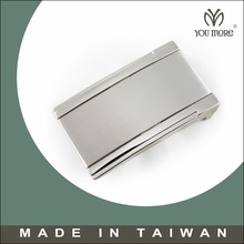 Taiwan manufacturer new design sleek modern plaque belt buckle