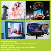 high definition p6 outdoor smd led sign full color ce rohs epistar leds digit display modules