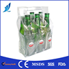 Custom reusable gel bottle ice pack wine cooler bag and single beer bottle cooler with handle