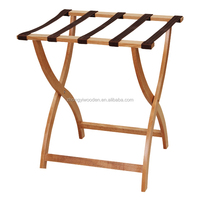 High quality hotel necessaries solid large foldable custom wooden luggage rack