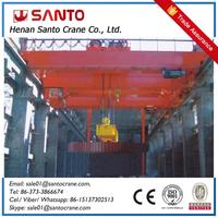 High Performance QC Double Girder Magnetic Charging Crane Low Cost