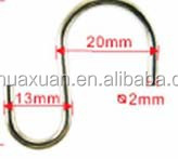 stainless steel rack hanging hook of S shape