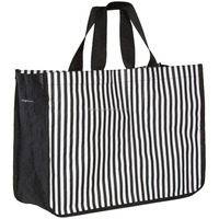Classic Stripe Pattern Grocery Shopping Bag Laminated pp Woven Bag