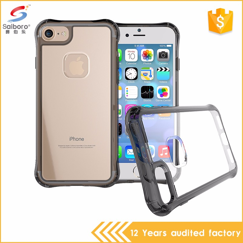 Low moq for iphone 6s plus cover clear,for iphone 7 case bumper clear