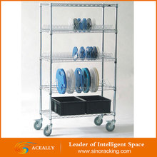 2 Tiers Mini Metal Wire Shelving in Chrome