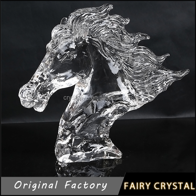 Crystal Horse Head Crafts Gifts