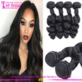 Natural color brazilian virgin hair loose wave hair extensions For black women virgin brazilian hair