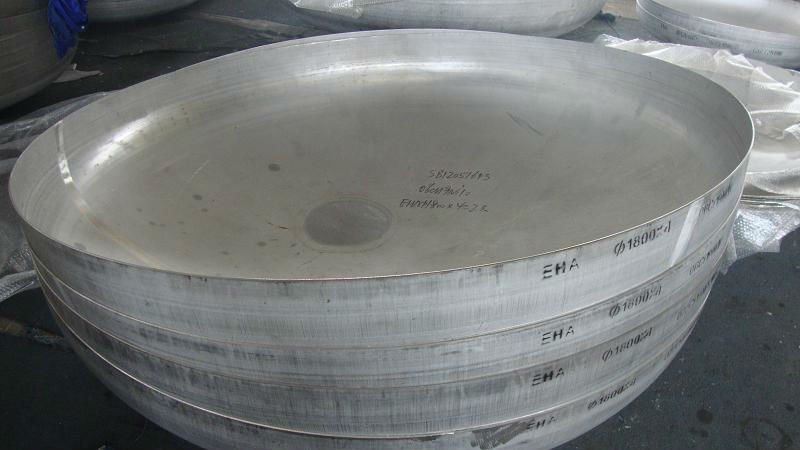 stainless steel dish head elliptical
