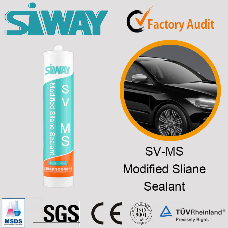 Waterproof MS silicone sealant/adhesive for car modification