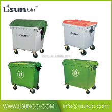 Metal step foot pedal plastic dustbin waste bin 1100L