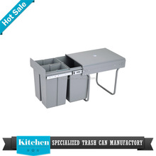 kitchen bin drawer inserts concealed slim slide out dump bin