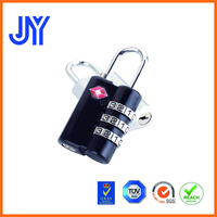 Factory price high quality bag case 3 dial luggage zine alloy TSA padlock