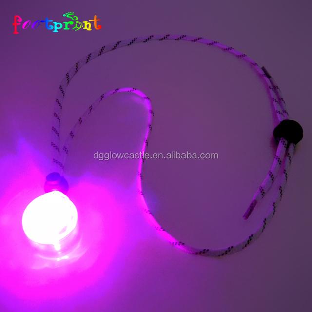 LED Glow Necklace Party Disco Wedding Light emitting led pendant
