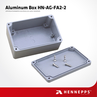 Hennepps Factory Manufacture HN-AG-FA2-2 135*85*56 IP66 Junction Box Aluminum Case Die Cast Aluminum Box Enclosure