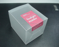 printed frosted storage box, pvc packaging plastic box