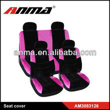 velvet pink car seat covers with customized logo