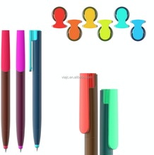 factory direct sale plastic souvenir ballpoint pens colorful clip and tip