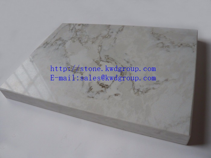 White veins artificial quartz stone for wall