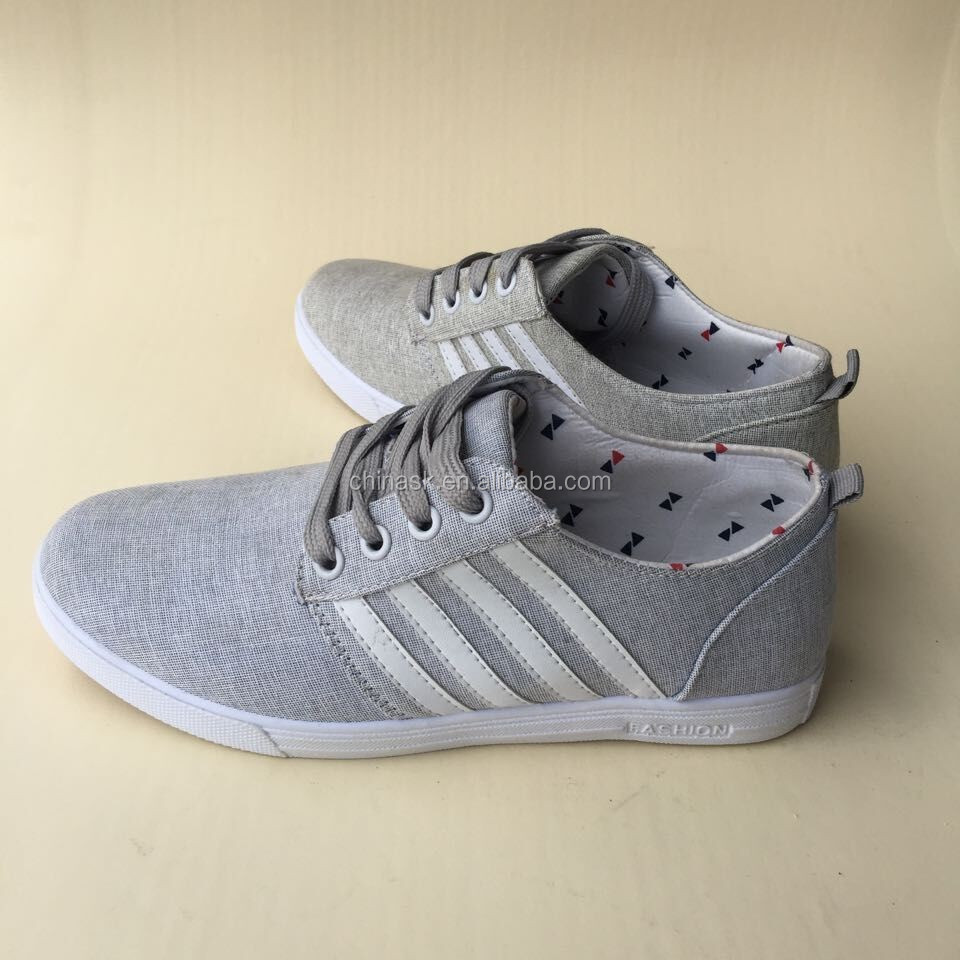 LZ003 Men Canvas Shoes Grey Canvas Make in China Canvas Shoes