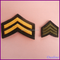 Embroidered Technics and Sew-On Badge Type hand embroidered bullion badge