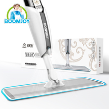 Boomjoy PP Mop Head Material and Steel Pole Material 360 degree magic easy floor cleaning super spray mop