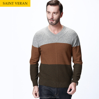 2015 on sale 10% discount man colorful v-neck cashmere sweater