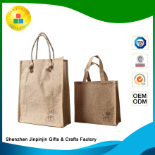 Fashion customized burlap favor bags wholesale with logo jute bag