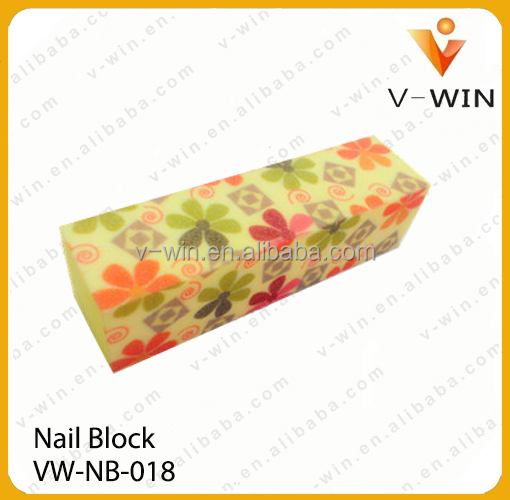 yellow color nail buffer/sanding nail buffer block/nail shine buffer block