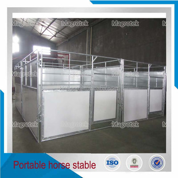 China HDPE filled galvanized portable horse stable panel with roof
