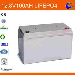 solar storage rechargeable lifepo4 battery 12v 100ah