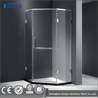 frameless shower doors low price stainless steel hinge 8mm/10mm tempered glass shower enclosure