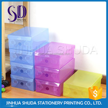 Colorful Clear Plastic Clear Drop Front Shoe Box