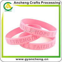 promotion custom gradient filled silicone wristbands for corporate gifts