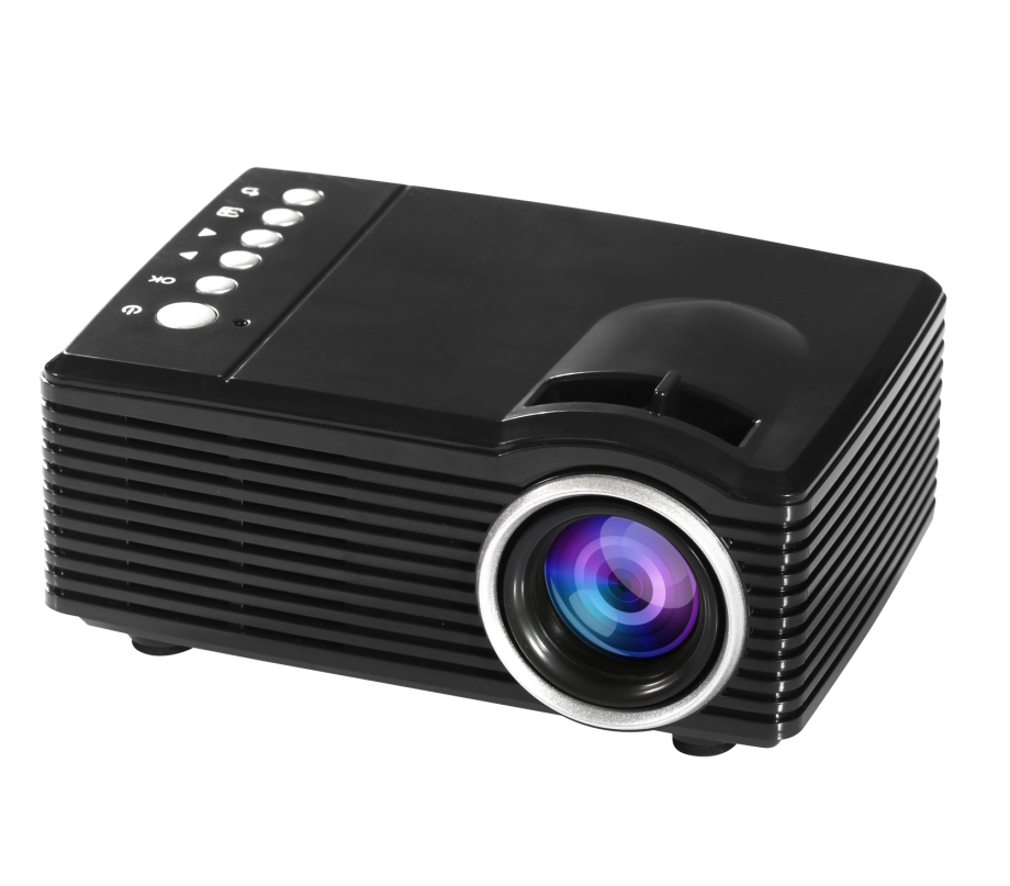 2018 New Beam Projector SD30 USB/SD/AV/ Input battery powered mini projector with Remote Control