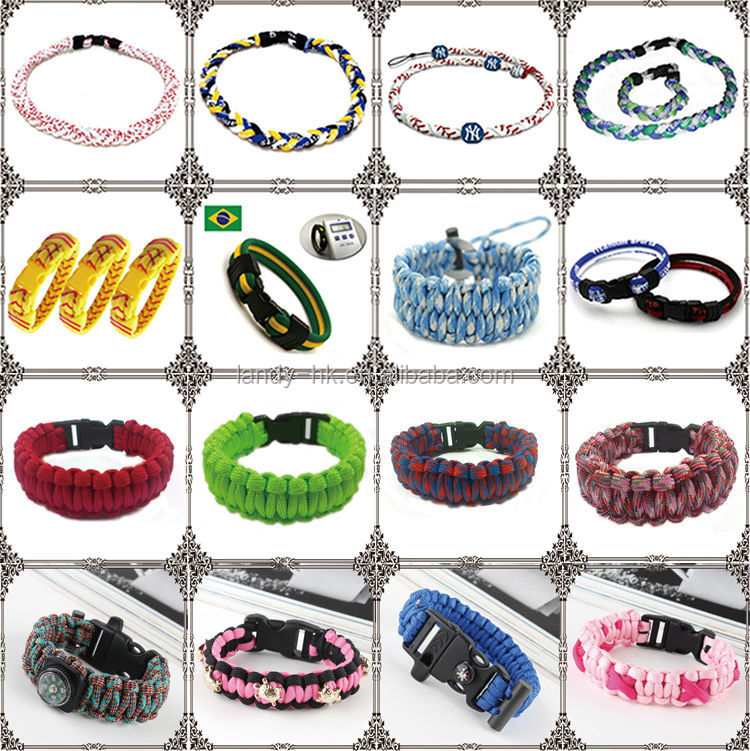 Bluu Paracord Sport Well sale Oem 2014 new bracelet jewelry