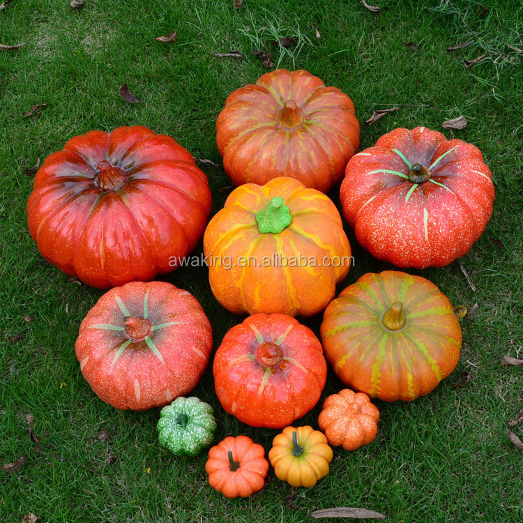 simulation vegetables pumpkin for halloween decoration and photography