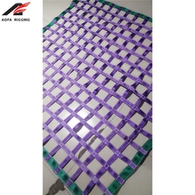 custom polyester trailer cargo lifting webbing net sling