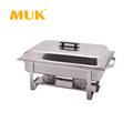 MUK wholesale restaurant durable stainless steel buffet food warmer chafing dish