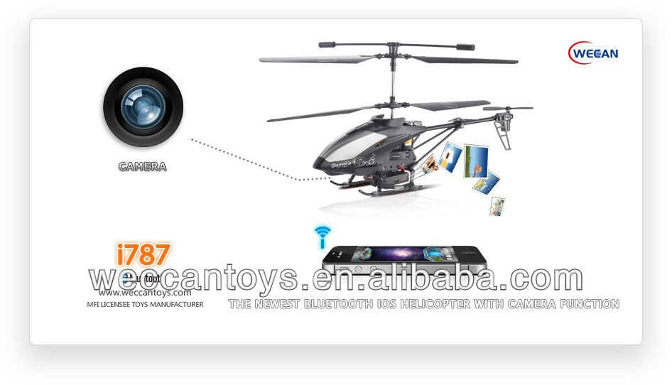 iPhone control camera Helicopter with gyro take video and photo