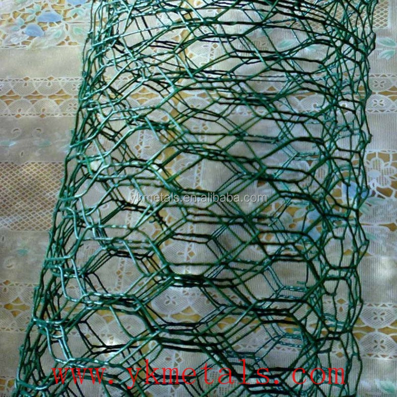 Galvanized Core Wire Then PVC COated Hexagonal Retaining Wall Wire Netting Made in China