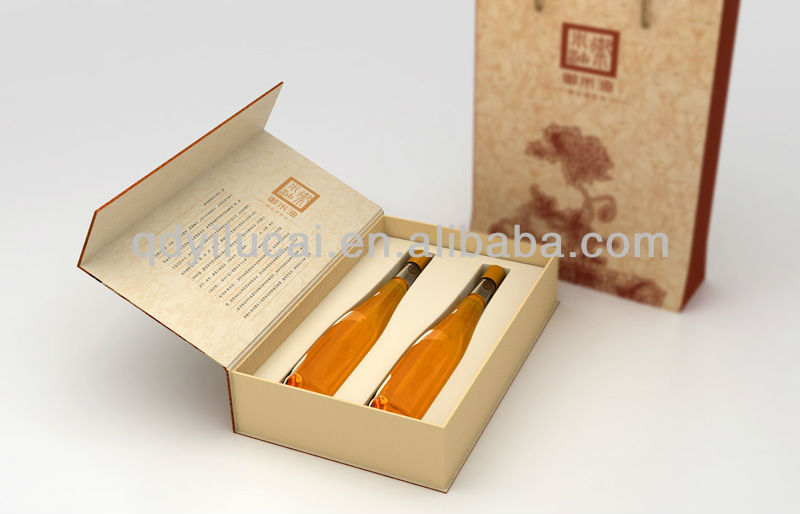China supplier Olive oil box for 2 bottle