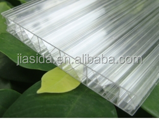 X profile Polycarbonate hollow sheet