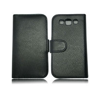 New Hot leather case cover with two credit card slot for samsung galaxy s3 i9300