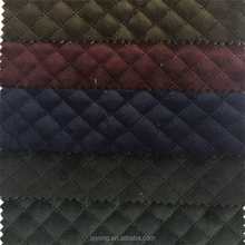 Popular No-sewing Direct quilted Tricot Velvet Ultrasonic Quilting Fabric for Jackets,Home Textile