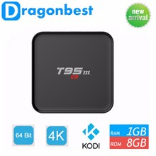 Cheap Price Android 5.1 OS 8GB emmc rom t95m Android tv box set top box digital tv cable receiver