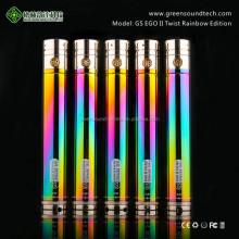 latest technology Top Sales Ego E Cigarette rainbow battery from GS private label vaporizer pen