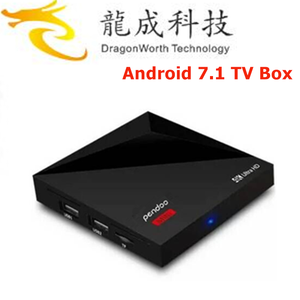Factory Directly Pendoo A5X Plus Mini RK3328 1G 8G 4k 3d smart tv android box digital satellite receiver
